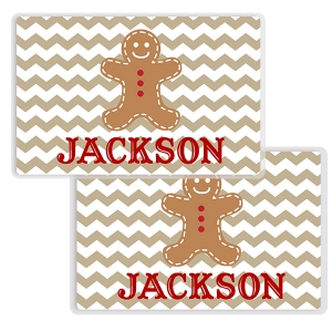 Gingerbread Man Personalized Childs Christmas Placemat