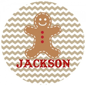 Gingerbread Man Personalized Kids Christmas Plate