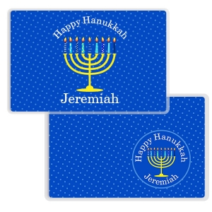 Happy Hanukkah Personalized Kids Placemat
