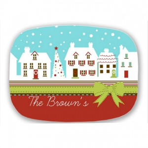 Home for the Holidays Personalized Holiday Christmas Platter