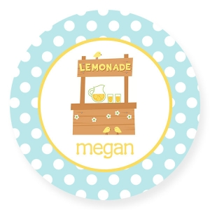 Lemonade Stand Personalized Plate