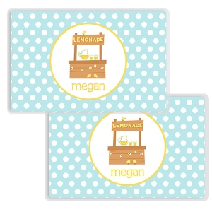 Lemonade Stand Girls Personalized Placemat
