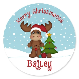 Merry Christmoose Personalized Kids Christmas Plate