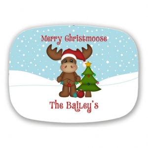 Merry Christmoose Personalized Christmas Platter