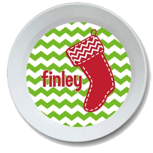 Stocking Personalized Christmas Bowl