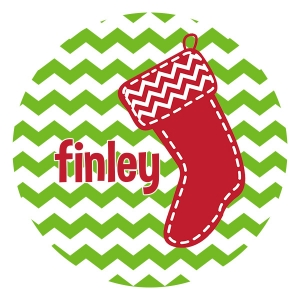Stocking Personalized Christmas Plate