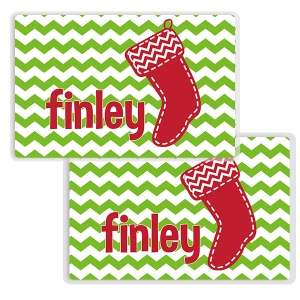 Stocking Personalized Christmas Placemat