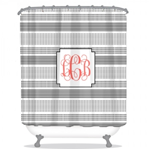 Faux Stitch Personalized Shower Curtain