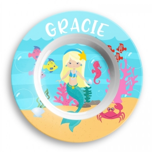 Personalized Girls Bowl - Mermaid
