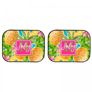 Preppy Pineapple Rear Car Mats