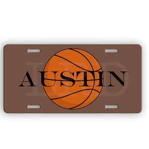 Basketball Personalized Car Tag - Decorative License Plate