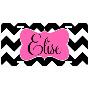 Chevron Personalized Car Tag - Decorative License Plate
