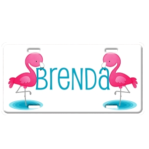 Flamingo Personalized Car Tag - Decorative License Plate
