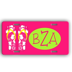 Flip Flops Personalized Car Tag - Decorative License Plate