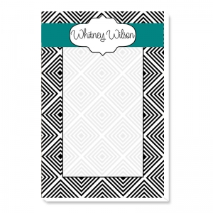 Geo Squares Personalized Notepad