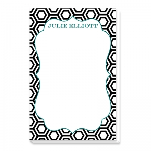 Hexagon Print Personalized Notepad