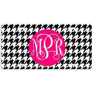 Houndstooth Personalized Car Tag - Decorative License Plate