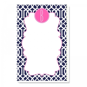 Lattice Print Personalized Notepad