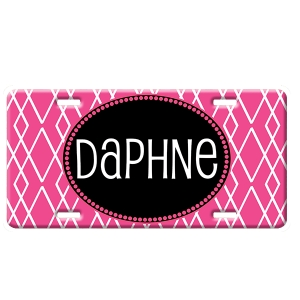 Luxe Print Personalized Car Tag - Decorative License Plate