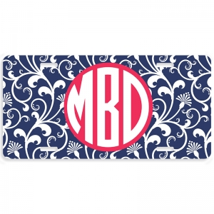 Parisian Pop Personalized Car Tag - Decoritive License Plate