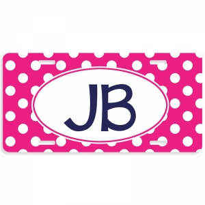 Polka Dot Personalized Car Tag - Decoritive License Plate