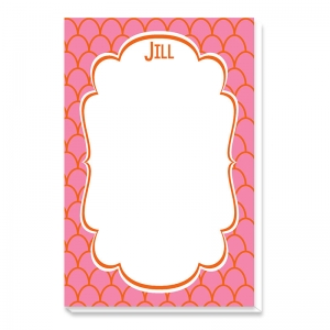 Scallop Print Personalized Notepad