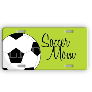 Soccer Personalized Car Tag - Decorative License Plate