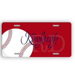 Softball Personalized Car Tag - Decorative License Plate