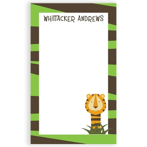 Tiger Personalized Notepad
