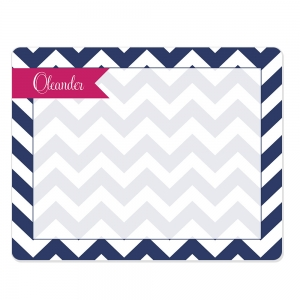 Chevron Print Custom Personalized Dry Erase Board