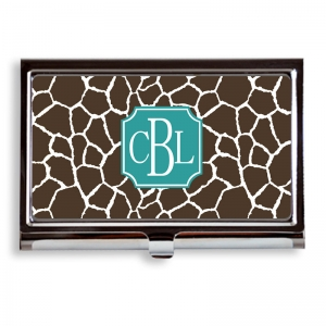 Giraffe Print Business Card Case/Holder
