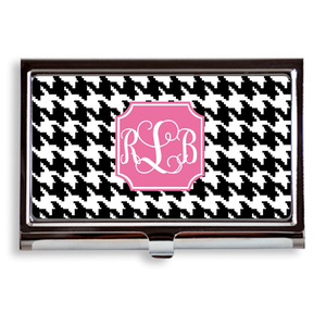 Houndstooth Print Business Card Case/Holder