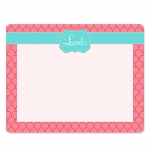 Scallop Print Custom Personalized Dry Erase Board