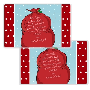 Santa's Bag Personalized Christmas Placemat