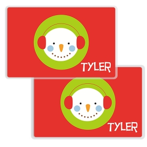 Snow Boy Christmas Place Mat