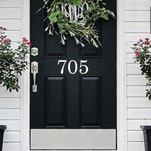Address door or mailbox decal