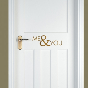 Me & You Vinyl Door or Wall Decal