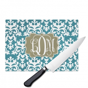 Vintage Damask Personalized Cutting Board