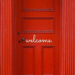 welcome. Door Decal