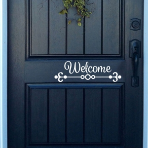 Welcome Door Decal