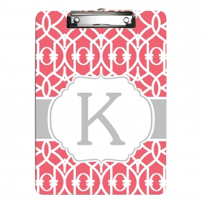 Criss Cross Trellis Personalized Clipboard