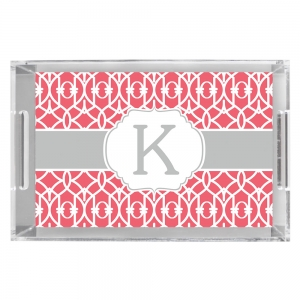Criss Cross Trellis Personalized Serving Tray