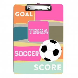 Soccer Girls Personalized Clipboard Girl