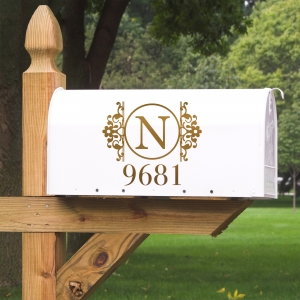 Southen Grace Personalized Address & Initial Vinyl Mailbox Decal