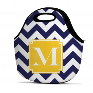 Chevron Personalized Insulated Lunch Tote