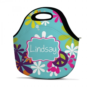 Hippie Chick Personalized Insulated Lunch Tote