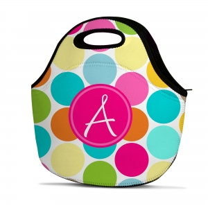 Jumbo Dots Personalized Insulated Lunch Tote