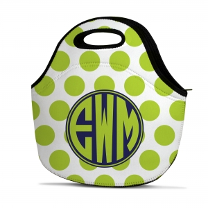 Polka Dot Personalized Insulated Lunch Tote