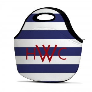 Rugby Stripe Personalized Insulated Lunch Tote