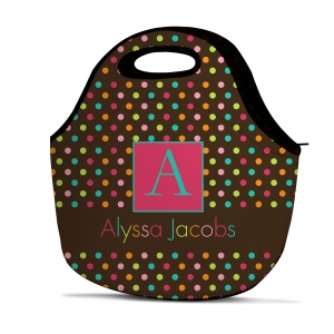 Colorful Chevron Personalized Insulated Lunch Tote